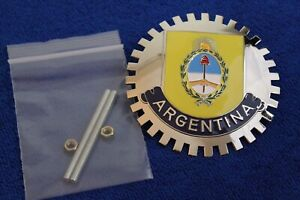 Argentina Grille Badge Bumper License Topper Accessory Rat Rod Bumper Bar