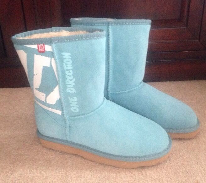 1-D  ONE DIRECTION 1D BOOTS BLUE AQUA Size 7 NEW