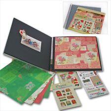 Scrapbook Album Weihnachten 20 Seiten + 6 Bastelbögen 3D Sticker Merry Christmas
