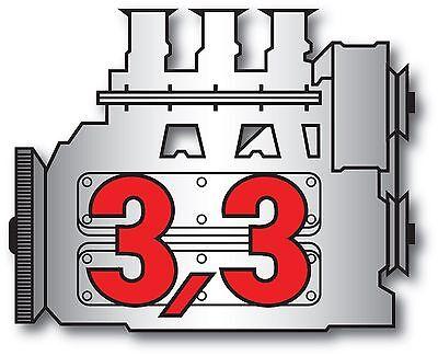Porsche Vintage 911 3.3 engine vintage Sticker Decal