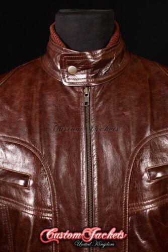 Men/'s HUDSON Brown 80/'s Retro ROCKSTAR Oasis Real Lambskin Leather Jacket 7173