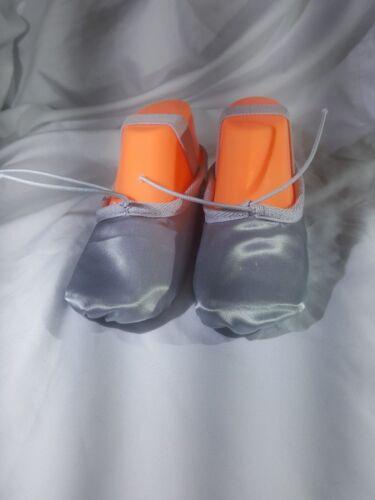 Zapatos De Ballet Satén Gris Con Suela Completa Para Niñas//Mujer