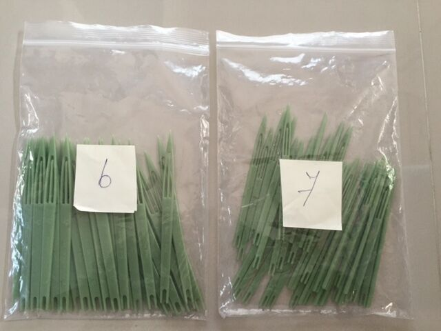 10x NET NEEDLES size number 6 and number 7 for 10 pieces each net making repair