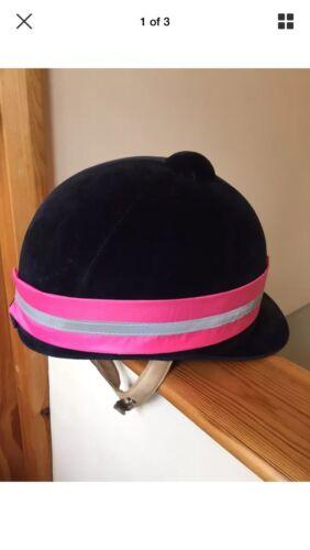 Hi Viz Reflective Riding Hat Band Pink