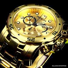 Invicta Pro Diver Scuba 18kt Gold Plated Steel Chronograph Swiss Parts Watch New