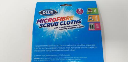2 Pack Microfibre Striped Scrub Cloths Multi Purpose Cleaning 27cmx30cm Cheap