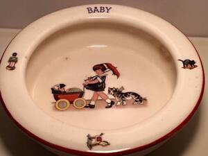 Antique-art-deco-Czechoslovakian-ceramic-baby-Bowl