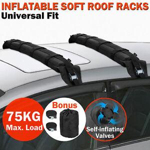 Image Is Loading Universal Padded Soft Roof Rack Bars Kayak Car