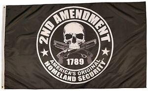 NEW 3x5ft SKULL 2ND AMENDMENT AMERICA/'S HOMELAND SECURITY FLAG