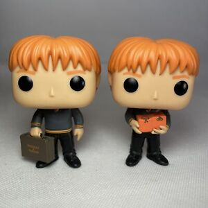 "Fred & George Weasley Funko Pop! 4"" Figures 33 & 34 VGC No Boxes"