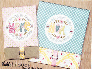 SALE-PATTERN-Home-Tablet-Pouch-pretty-stitchery-decorated-PATTERN