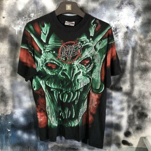 Vintage 1996 Slayer All Over Print Shirt