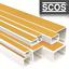 Kabelkanal Decke SCOS® TV Kabelleiste Wand Profi PVC Selbstklebend Schraubbar