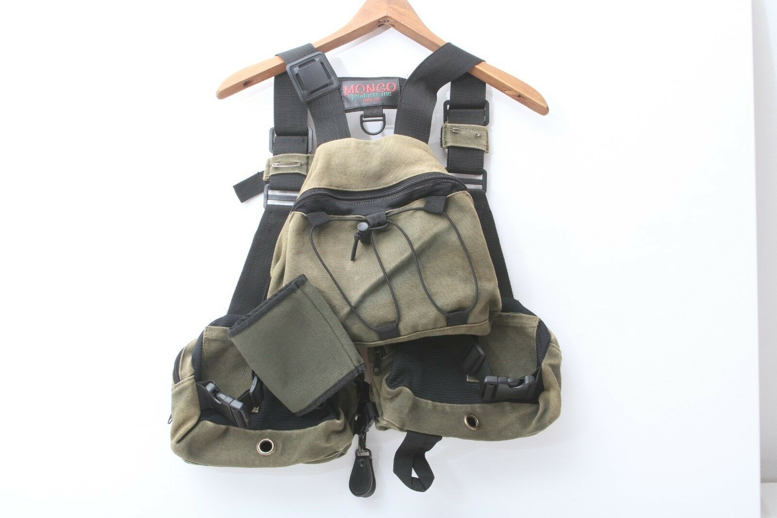 Mongo Products Inc  Guide Fishing Vest Canvas Used Good Condition  online shopping sports