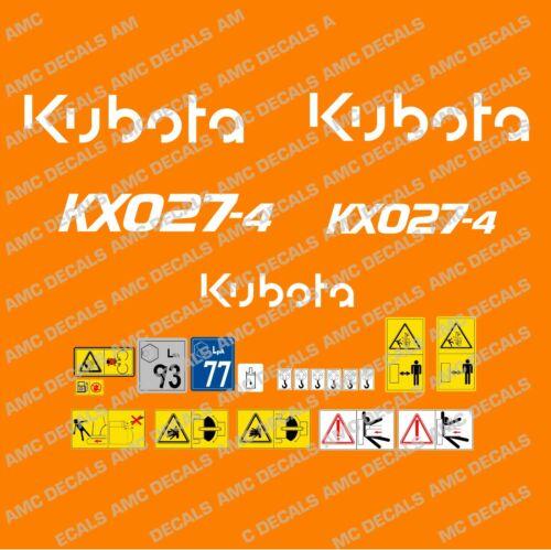 Kubota KX027-4 Gräber Abziehbild Set