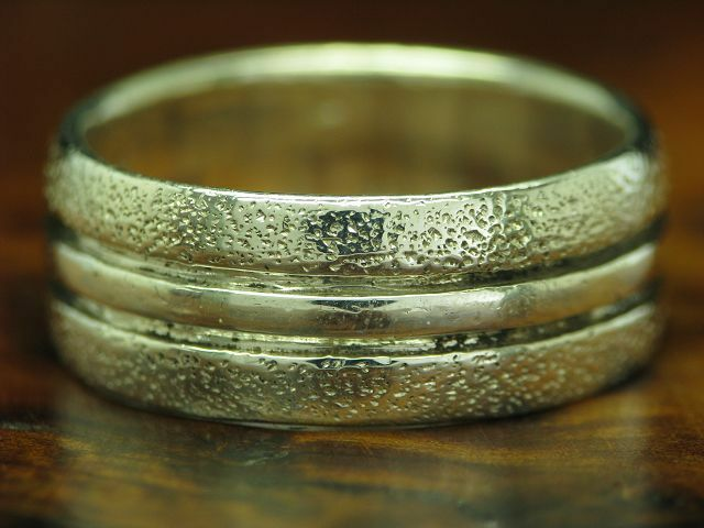 925 STERLING silver RING    DREIREIHIG GEMUSTERT   ECHTsilver   5,7g   RG 57