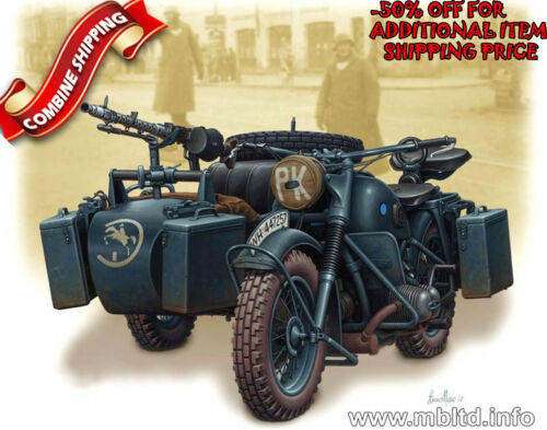 Master Box 3528 WWII German BMW R75 Military Motorcycle plastic model kit 1/35