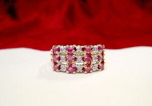 10K-YELLOW-GOLD-RUBY-AND-DIAMOND-WIDE-FASHION-BAND-RING-SIZE-8-5