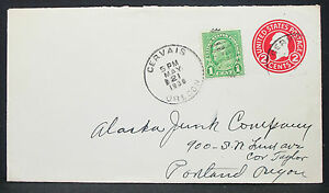 US-Postal-History-Stationery-Cover-Cervais-1938-2c-GS-Rnd-USA-Letter-H-10820