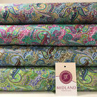 Retro Floral Paisley printed 100% Cotton Lawn fabric 45