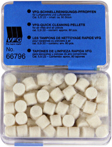 VFG QUICK CLEANING PELLETS FELTS FOR AIR RIFLE GUNS
