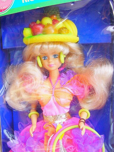 """Plasty Lundby PETRA 12"""" Action Figure Doll + RIO CARNAVAL Fashion Outfit MIB`85!"""