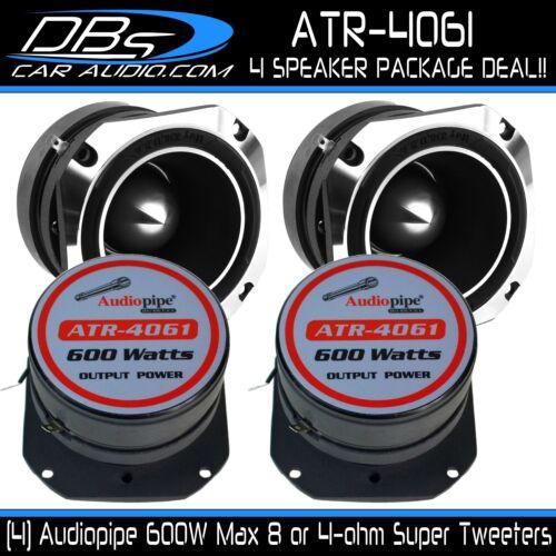 "4 Audiopipe ATR-4061 4/"" Chrome Super Loud Car Bullet Tweeter 2400W 8 or 4-ohm"