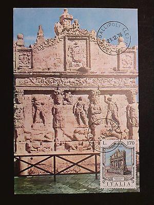 Italien Mk 1976 Brunnen Fontana Gallipoli Maximumkarte Maximum Card Mc Cm C8610