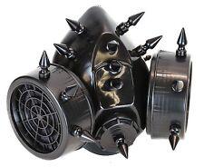 "Gas Mask 1"" Black Spike Respirator Halloween Punk Cosplay Cyber Goth Rave"