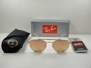 RAY-BAN MARSHAL SUNGLASSES RB3648 9001I1 BRONZE PINK GRADIENT MIRROR ... 0a950eba9b4