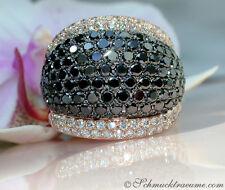 Hochkarätiger Ring mit weißen & schwarzen Brillanten, 7,71 ct. RG-750, 7.350 €