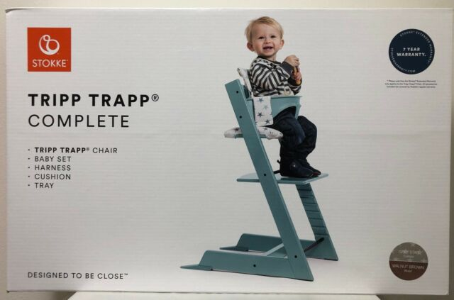 Excellent Stokke Tripp Trapp Complete Baby High Chair With Baby Set Harness Cushion Tray Caraccident5 Cool Chair Designs And Ideas Caraccident5Info