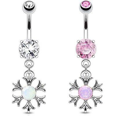3 x Pearl Vine Belly Button Bar Navel Dangles Bulk Pack Body Piercing Jewellery