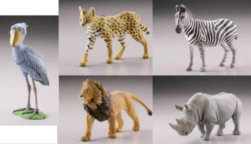 Kaiyodo Capsule Q Museum WILD RUSH Vol 1 African Savanna Edition Figure Set of 5