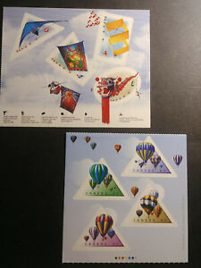 Canada Kites & Hot Air Balloons LOT Colourful Mint stamps - MNH