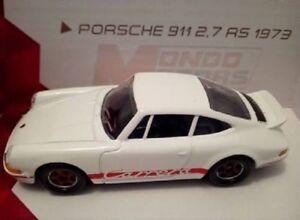 Porsche-911-2-7-RS-1973-Carrera-blanche-Metal-Ech-1-43-Mondo-Motors-Vintage