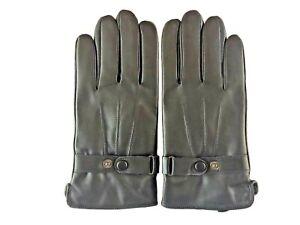 Men-039-s-GENUINE-LAMBSKIN-soft-leather-winter-gloves-w-velvet-lining