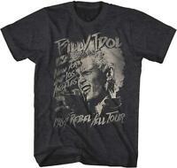 Billy Idol Rebel Punk Rock Hard Rock Singer Songwriter Musician Adult T-shirt 84