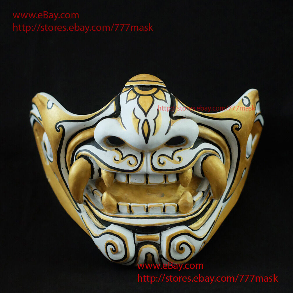Oni Airsoft Paintball Mask Motorcycle Samurai Noh Gun Tactical Prossoective MA221