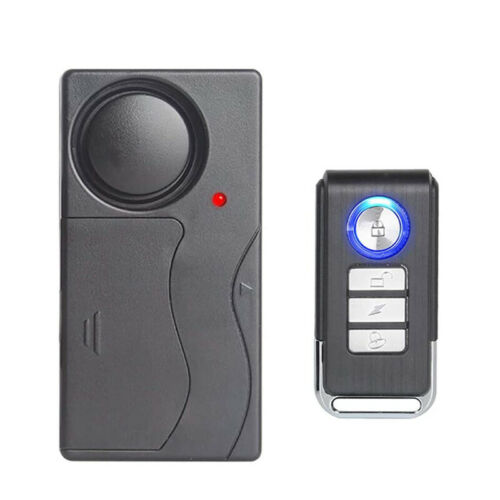 Wireless Bicycle Motorcycle IP55 Anti-Theft Alarm Vibration Remote Control 93dB