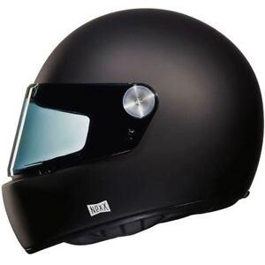 NEXX-XG-100-R-PURIST-NEGRO-MATE-Retro-Cafe-Racer-Casco-de-Motocicleta