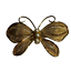 Vintage-Napier-Gold-Tone-Metal-Mesh-Butterfly-Brooch-Pin-w-Faux-Pearls thumbnail 1