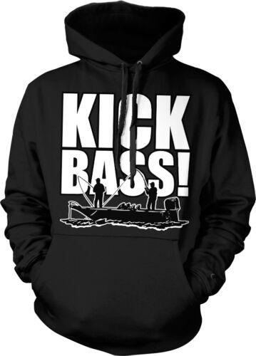 Boating Fishing Bass Fish Funny Hoodie Pullover Kick Bass!