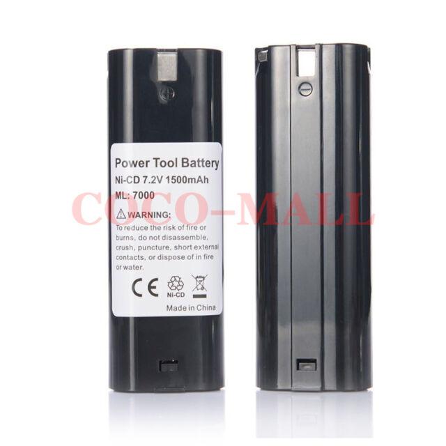 2X7.2V 1500mAh Battery for MAKITA 7000 7002 7033 632003-4 192695-4 Cordless tool