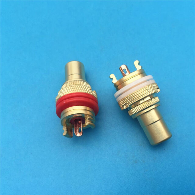 4 Sets RCA Female Socket Chassis Connector Phono Copper Plug Amp HiFi
