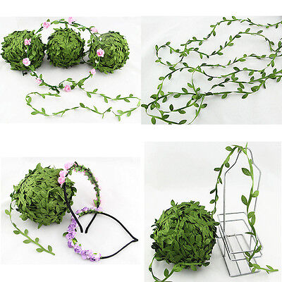 5M Silk Leaf Artificial Green Leaves Home Decor Wreath Gift Craft Flower Craft