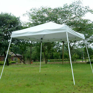 Outsunny 10x10ft Sunshade Shelter Easy Pop-up Canopy Slant Leg Patio Market