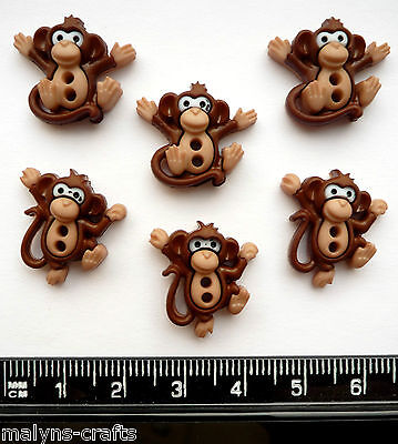 SEW CUTE MONKEYS Craft Buttons1ST CLASS POST Novelty Animal Nursery School Baby