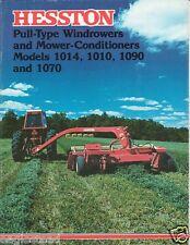 Farm Equipment Brochure - Hesston - 1010 1014 et al Windrower MoCo 1977 (F1984)