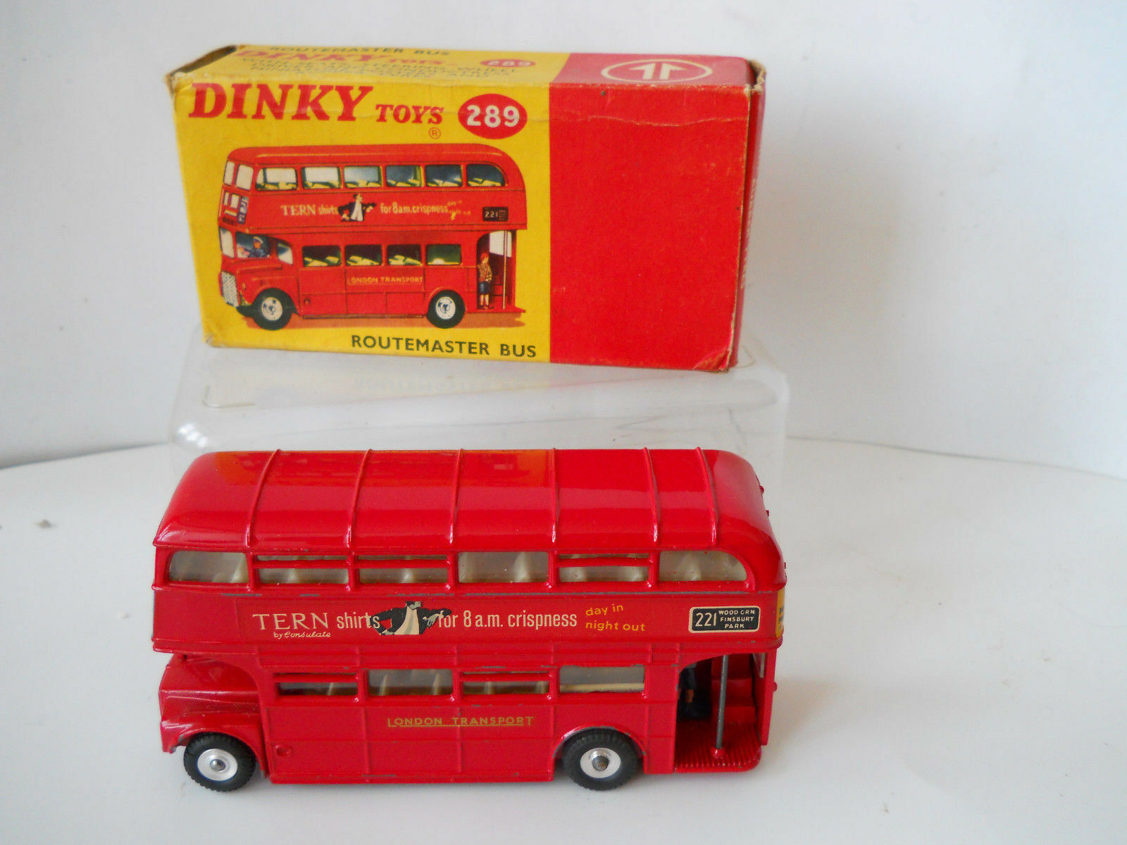 EARLY DINKY ROUTMASTER BUS 289   BOXED   TERN SHIRTS   MINT BOXED